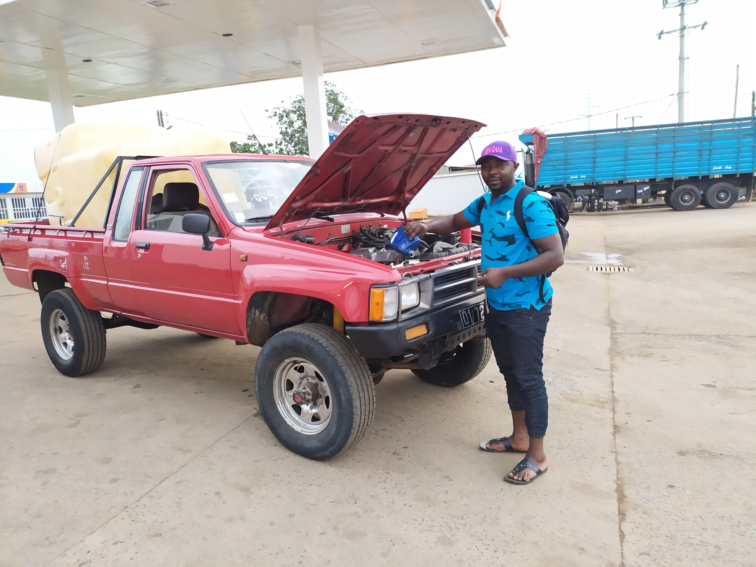 Pick Up Toyota die Umsetzung der Projekte vor Ort in Kamerun